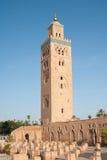 Koutoubia清真寺在马拉喀什 免版税库存照片