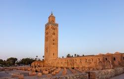Koutoubia清真寺在马拉喀什 免版税库存图片