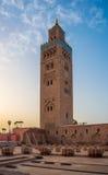 Koutoubia清真寺在马拉喀什 库存照片