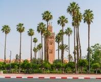 Koutoubia清真寺的尖塔 库存照片