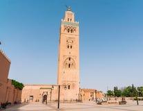Koutoubia清真寺的尖塔 免版税图库摄影