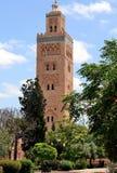 Koutoubia清真寺,马拉喀什 免版税库存图片