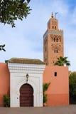 Koutoubia清真寺 马拉喀什 摩洛哥 免版税图库摄影
