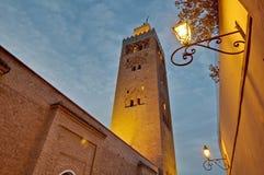 koutoubia马拉喀什摩洛哥清真寺 免版税库存照片