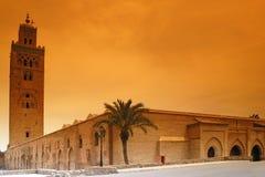 koutoubia marrakech royaltyfri fotografi