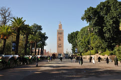 koutoubia Marrakesh meczet Obrazy Royalty Free