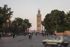 Koutoubia of Marrakesh Royalty Free Stock Photography