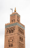 Koutoubia minaret made from golden bricks in centrum of medina Stock Photo