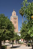 Koutoubia minaret in Marrakesh Royalty Free Stock Image