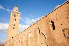 Koutoubia Minaret / Mosque. Is a very old and also the tallest building in Marrakesh, Morocco, symbol of the city so to speak royalty free stock photos