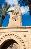 Koutoubia minaret robić od złotych cegieł w centrum Medina Obrazy Royalty Free