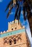 Koutoubia minaret robić od złotych cegieł w centrum Medina Zdjęcie Royalty Free