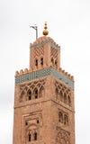 Koutoubia minaret robić od złotych cegieł w centrum Medina Zdjęcie Stock