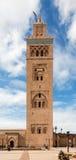 Koutoubia minaret robić od złotych cegieł w centrum Medina Obraz Royalty Free