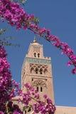 Koutoubia Minarett in Marrakesch lizenzfreies stockfoto