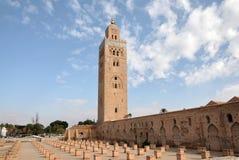 Koutoubia Moschee in Marrakesch Stockbilder