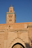 Koutoubia Moschee in Marrakesch Stockfotos
