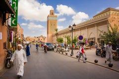 Koutoubia Moschee Marrakesch marokko stockfoto