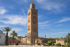 Koutoubia-Moschee in Marrakesch Marokko Stockfotos