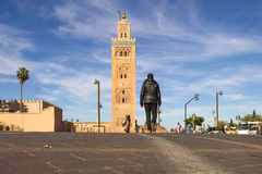 Koutoubia-Moschee in Medina Marrakesch Stockbilder