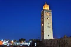 Koutoubia moské i den sydvästliga medina fjärdedelen av Marrakesh Fotografering för Bildbyråer