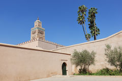 Koutoubia moské i Marrakech. Fotografering för Bildbyråer