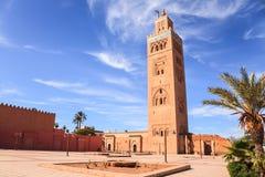 Koutoubia moské i Marrakech Arkivbilder
