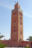 Koutoubia moské i Marrakesh Arkivfoton