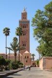 Koutoubia moské i Marrakesh Arkivbilder