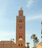 Koutoubia moské i Marrakesh, Marocko Fotografering för Bildbyråer