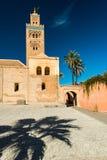 Koutoubia moské i Marrakesh, Marocko på den soliga dagen Royaltyfria Foton