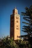 Koutoubia moské marrakech Royaltyfri Foto