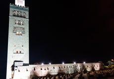 Koutoubia moské och minaret royaltyfri foto