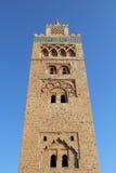 Koutoubia moské, mest berömdt symbol av den Marrakesh staden, Marocko. Arkivfoto