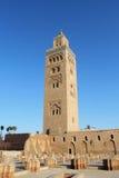 Koutoubia moské, mest berömdt symbol av den Marrakesh staden, Marocko. Fotografering för Bildbyråer