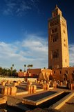 Koutoubia moské. Marrakech Marocko Arkivfoton