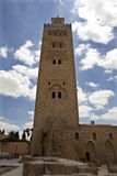 Koutoubia Mosque. Min minaret of Koutoubia Mosque in Marrakech Royalty Free Stock Photography