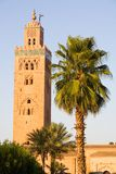 Koutoubia Mosque. Mosque in Marrakesh (Morocco) - The Koutoubia is the most famous muslim monument of the city. Dated from 1199 under El Mansour Royalty Free Stock Photos