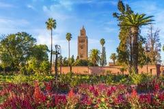 Koutoubia Mosque And Garden In Marrakesh Royalty Free Stock Photos