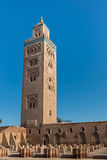 The Koutoubia Mosque with blue sky at Marakesh Royalty Free Stock Photography