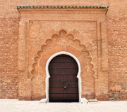 Koutoubia Mosque door Royalty Free Stock Image