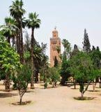 Koutoubia Mosque garden Royalty Free Stock Photo