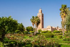 The Koutoubia mosque stock photos