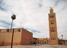 Koutubia mosque in Marrakech (Morocco) Royalty Free Stock Photos