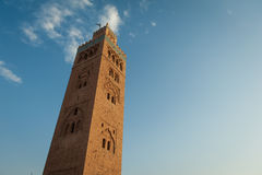 Koutoubia Mosque in Marrakech Stock Photo