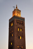 Koutoubia Mosque in Marrakech Royalty Free Stock Images