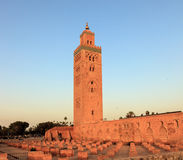 Koutoubia mosque in Marrakech Stock Image