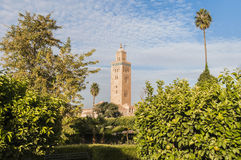 Koutoubia Mosque at Marrakech, Morocco Royalty Free Stock Photography