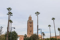 Koutoubia Mosque at Marrakech, Morocco Stock Photos