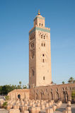 Koutoubia mosque in Marrakech. The striking Koutoubia Mosque in Marrakech, Morocco Royalty Free Stock Photos